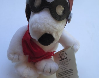 Peanut's - Snoopy - Red Baron - Plush - Toy - Doll - Applaus