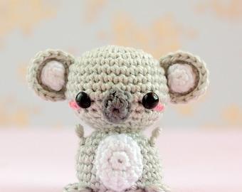Crochet koala plush, Mini amigurumi koala, Mini animals doll, Kawaii crochet stuffed animals plushies, Kawaii amigurumi crochet animals