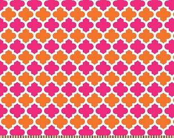 Anna's Garden Quatrefoil by Patrick Lose Fabrics - Peony 63798-C300715 Quilt Fabric
