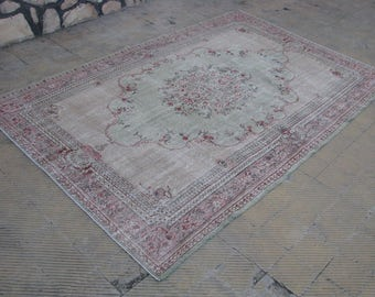 OUSHAK PALE RUG , Turkish area Pale Best Quality rug , Vintage Pale rug , 6'5 x 9'9 feet