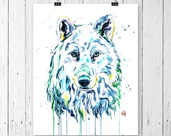 WOLF 3 PRINT Wolf Art, Wolf Watercolour, Wolf painting, wildlife art, wildlife painting, watercolour print, modern watercolour, northern art