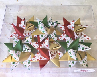 Moravian Paper Star Ornaments ~Christmas Ornaments (3 inch)