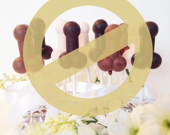 Bachelorette Party Penis Chocolates - Penis Party Favors - Chocolate Penis on a Stick - Penis Lollipops - Girl Night Out Party Favors