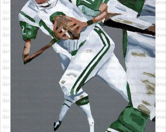 Joe Namath New York Jets ART Print from Original Painting