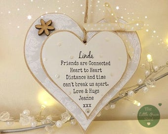 Friends Gift~Distance Apart~Personalised Plaque~Keepsake