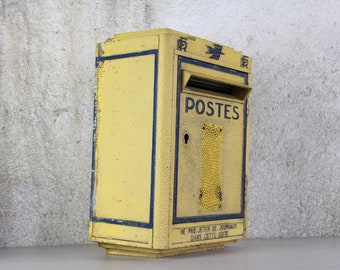 Original French Post Box, French Mailbox 1972 Cast Metal Post Box MAILBOX, Wedding Decor