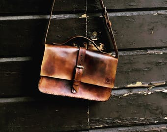 Hand Made leather messenger bag