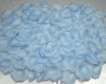 1000 pcs Light Blue Rose Petals Silk Petals For Wedding Table Centerpiece Aisle Decorations Flower Girl Basket HB-LX-019