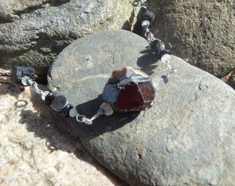 Black Garnet Necklace #36