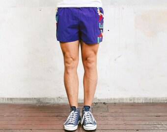 Bold Men Shorts . 90s Surfer Shorts Vintage Beach Shorts Board Shorts Summer Shorts Pants Swim Trunks Holiday Short . size Extra Small XS