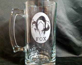 Metal Gear Solid Fox Inspired Etched Mug