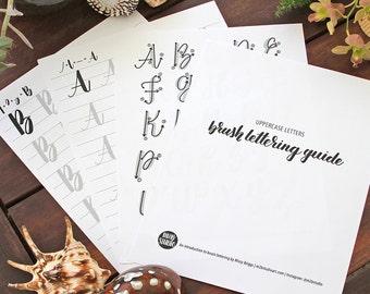 Uppercase Alphabet - Learn Brush Lettering - Calligraphy Guide