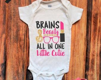 Brains & Beauty Onesie