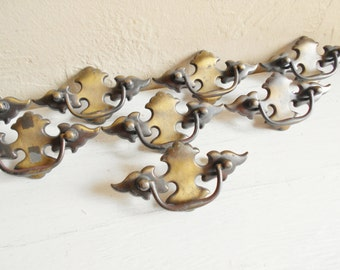 Vintage Brass Metal Drawer Pulls for Furniture Cupboard 8 Eight