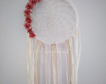 Dream catcher. Sweet roses.