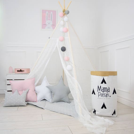 Play Tent Lace Teepee Tipi White Teepee Tent Teepee
