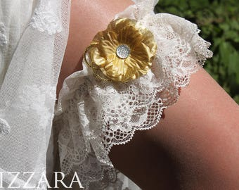 gold garter for bridal garter gold wedding bridal garter for wedding garter set lace garter white garter gold set garter wedding flower gold