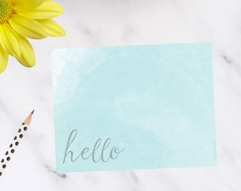 Personalized, stationery Water Color Note Cards