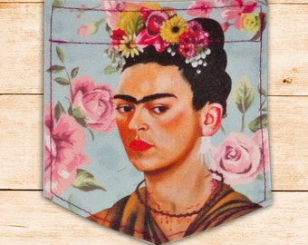 Spring & Frida Kahlo Sticky Pocket Patches - Patch for Tshirts