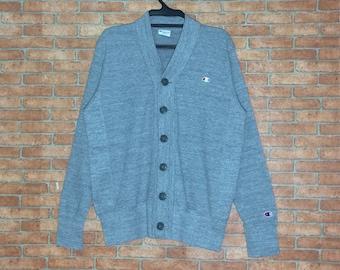 Rare!!! Vintage Lacoste sweatshirt pullover Crewneck Vtg Lacoste Sport Club Embroidered Jumper jacket Grey pdevg