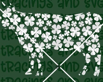 Shamrock clover cow SVG