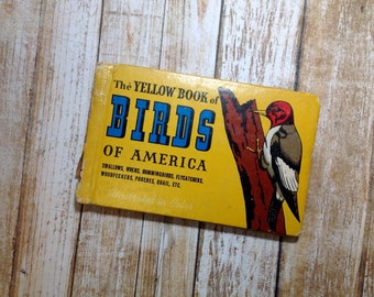 Illustrated Birds of America Yellow Book 1931 Field Guide Pocket Size