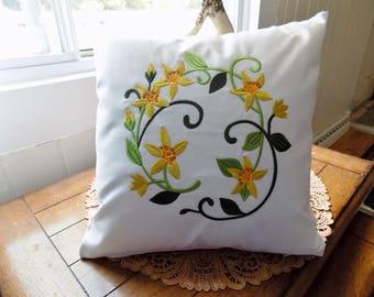 St. John's Wort Wreath Toss Pillow