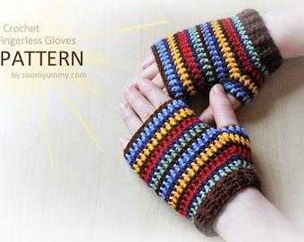 Crochet Pattern - Crochet Fingerless Gloves (Pattern No. 047) - INSTANT DIGITAL DOWNLOAD