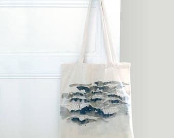 Totebag - waves watercolor
