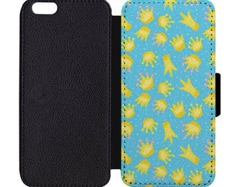 Frog Crown Print Pattern Leather Flip Wallet Case Apple iPhone 5 5S SE 6 6S 7 7S 8 8S X Plus