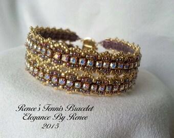 Renee's Tennis Bracelet Tutorial - PDF Instant Download