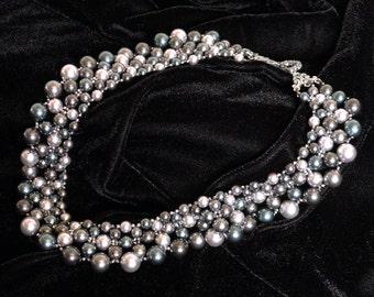 Stormy Night Pearl Collar