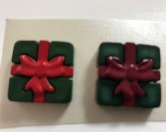 NEW LISTING! Christmas Packages Earrings