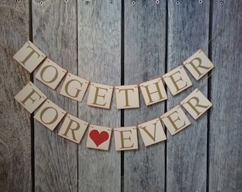Anniversary banner, wedding decorations, just married banner, custom engagement banner, wedding photo prop, custom colors, wedding sign