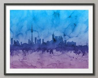 Toronto Skyline, Toronto Canada Cityscape Art Print (1102)