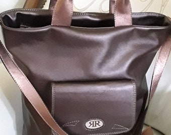 Brown Leather Crossbody Bag - FREE SHIPPING