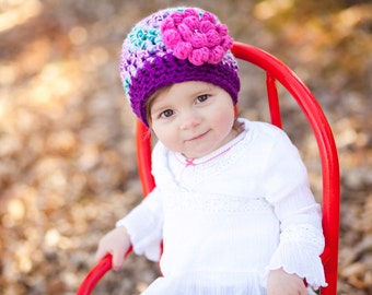 Unique Baby Gift - Baby Girl Gift - Baby Shower Gift - Bright Purple Hat - Hats for Kids