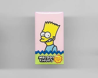 Vintage BART SIMPSON Melody Chups Pin, Enamel Pin, Pinback, Hat Pin, The Simpsons, Homer, Lisa, Marge, Maggie