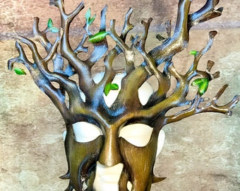 Tree Leather Mask