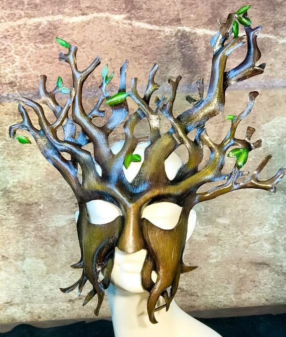 Tree Leather Mask