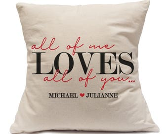 All Of Me Loves All Of You|Couples Gift|Fun Engagement Gifts|Personalized Wedding Gift|New Homeowner Gift|Bridal Shower Gift For Wedding