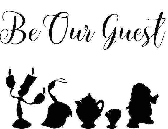 Disney Beauty Amp The Beast Be Our Guest Iron On
