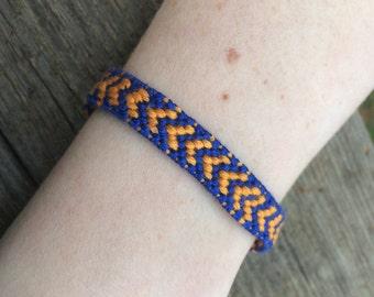 UF Gators Orange and Blue Friendship Bracelet