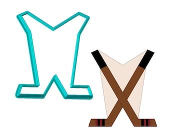 Hockey Sticks Cookie Cutter