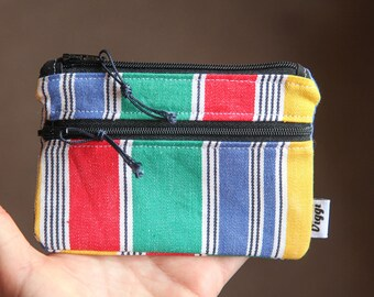 colorful wallet men / vegan money pouch / women and mens card holder