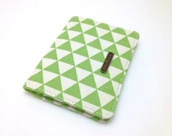 Fabric Card Case. Card Holder. Business Card Holder. Small Wallet. Card Wallet. Green Card Holder.