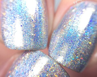 100% Holographic - Chasing Rainbows    Rainbow Glitter Nail Polish    Indie Lacquer    Polish Me Silly