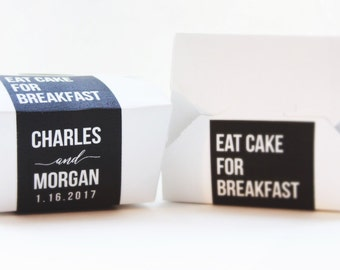 Cake Favor Box, Wedding Favor, To Go Box, Wedding Cake, Favor Box, Doughnut Box, Cookie Box, Kate Spade, Dessert Box, Eat Cake for Breakfast