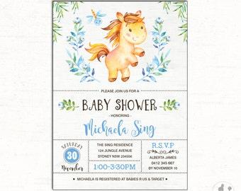Rhino baby shower invitation rhinoceros invitation jungle horse baby shower invitation unicorn baby shower invite horse first birthday printable invitation filmwisefo Gallery