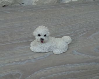 Dog bichon decor, display or collection